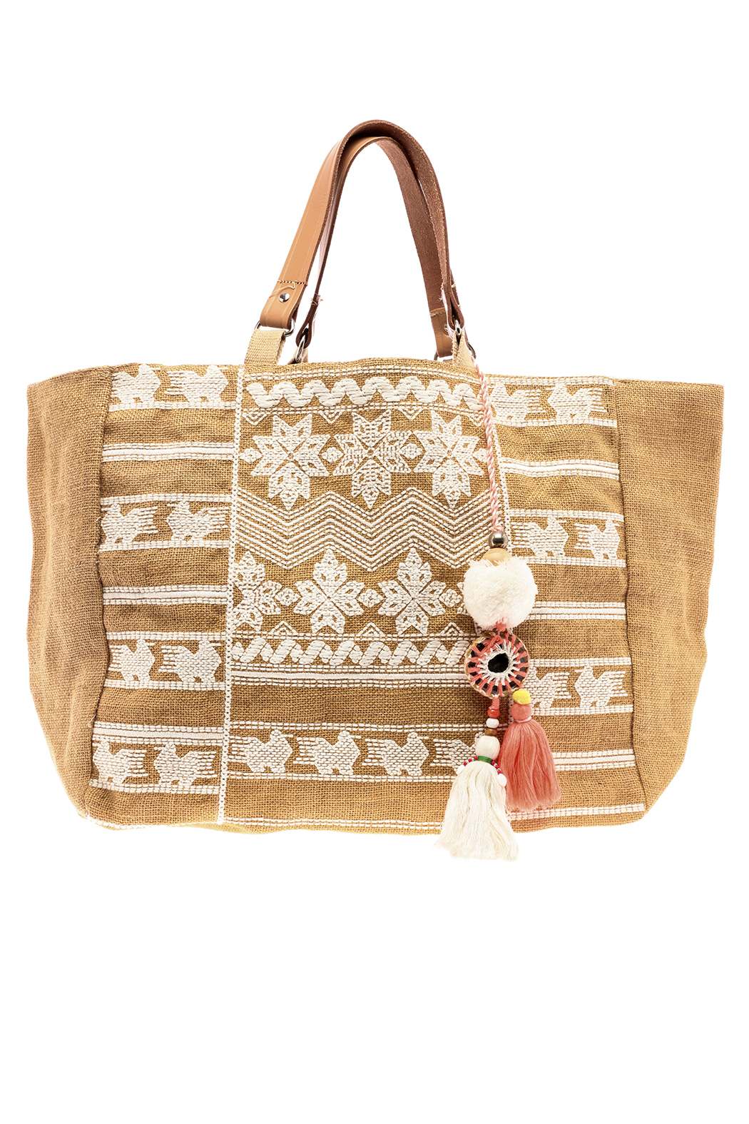 Star Mela Jute Embroidered Tote From Idaho By Madeline And