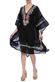 Star Mela Rosa Embroidered Caftan - Product Mini Image