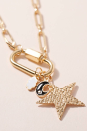 avenue zoe  Star Moon Charms Chain - Product Mini Image