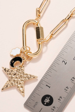 avenue zoe  Star Moon Charms Chain - Alternate List Image