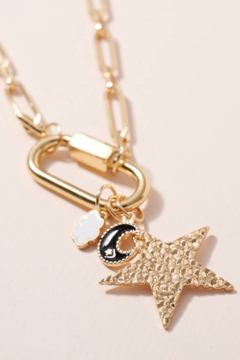 avenue zoe  Star Moon Charms Chain - Product List Image