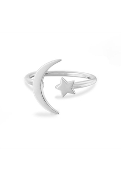 Something Silver Star + Moon Ring - Product List Image