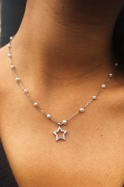 Lau International Star Pearl-diamond Necklace - Front full body
