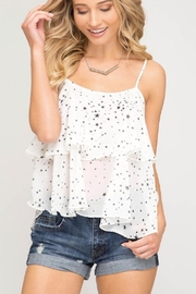 She + Sky Star Print Cami - Front cropped