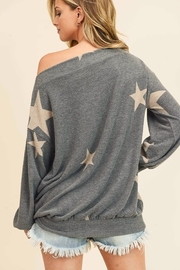First Love Star Print Cashmere Brushed Top - Side cropped