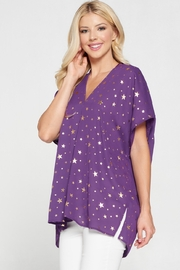Adrienne Star Print Flowy Top - Product Mini Image