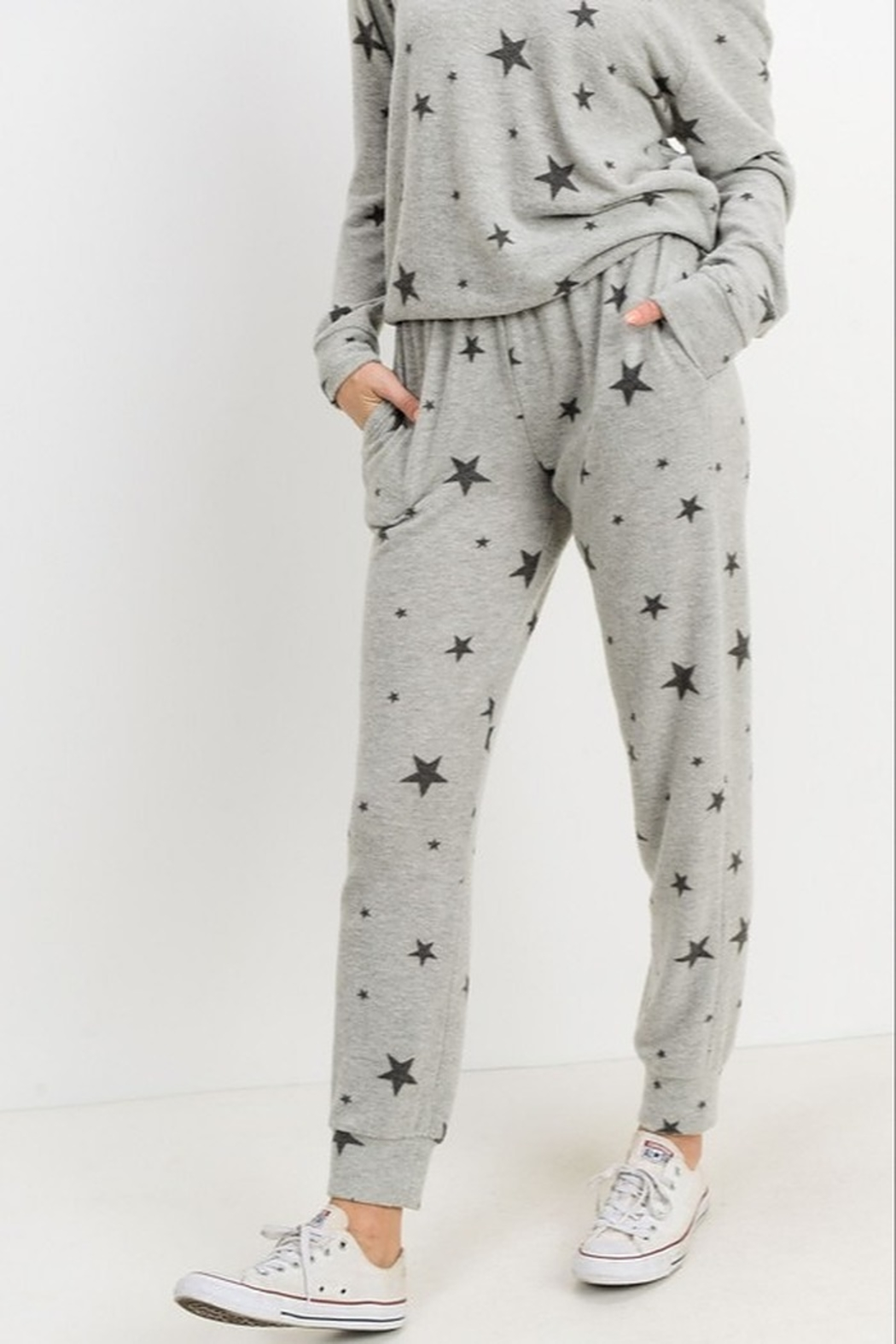 Papercrane Star Print Jogger - Front Cropped Image