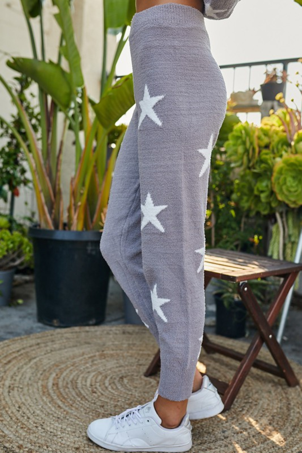 main strip  Star Print Lounge Pant - Front Full Image
