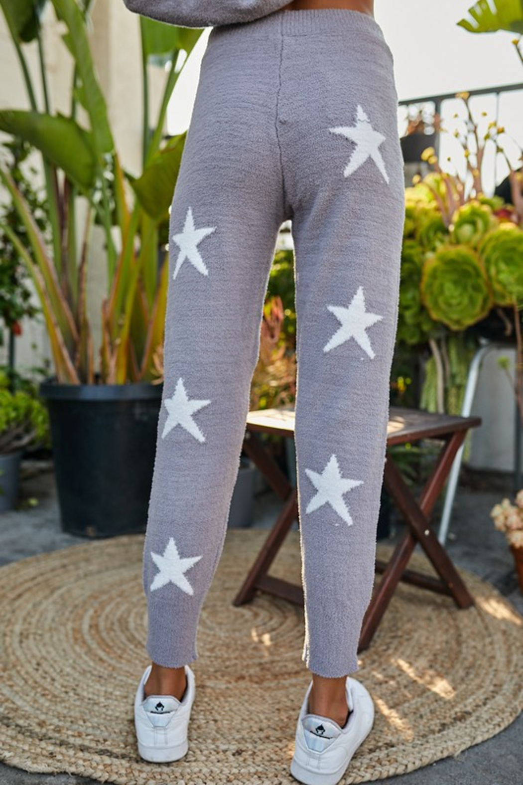 main strip  Star Print Lounge Pant - Side Cropped Image