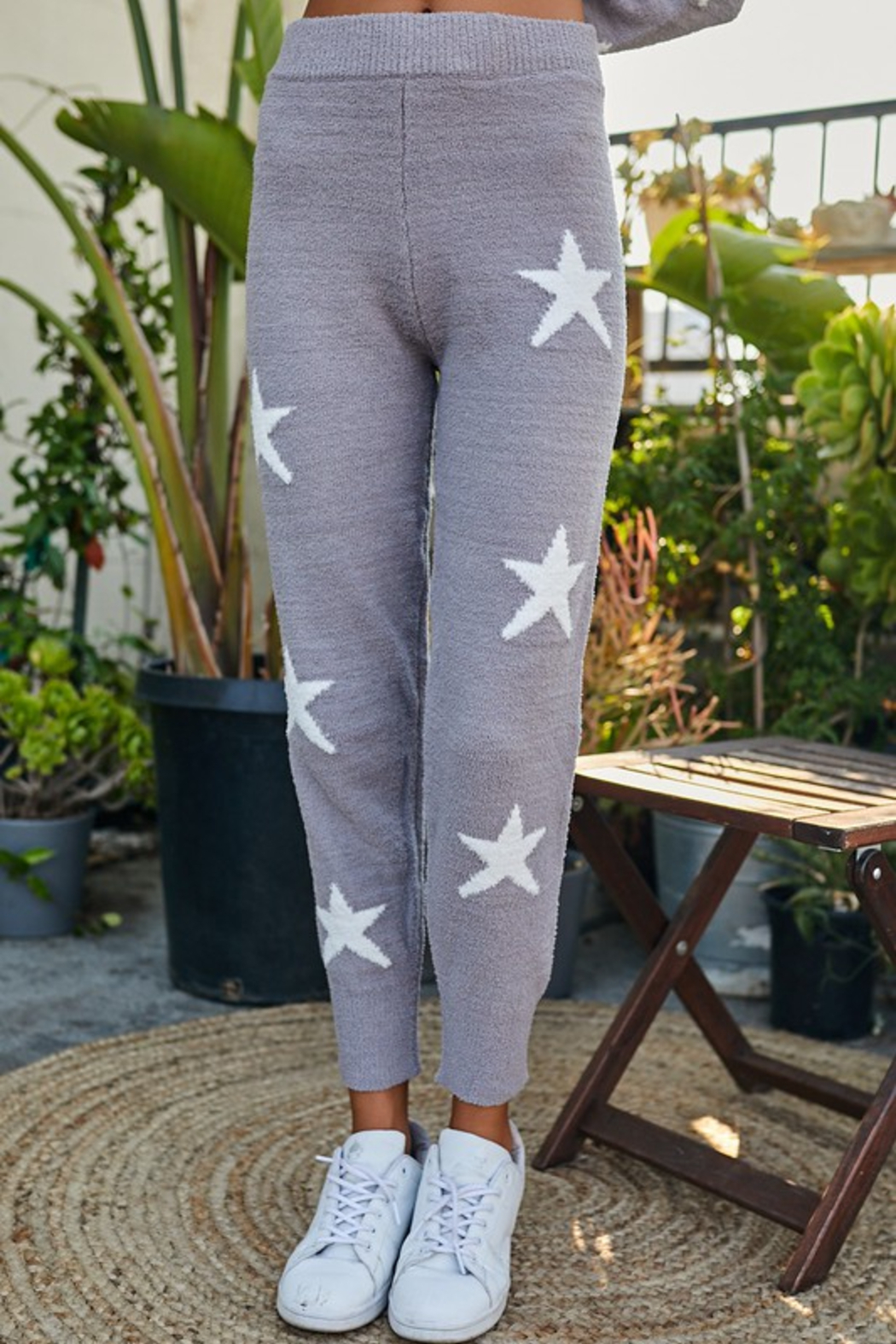 main strip  Star Print Lounge Pant - Front Cropped Image