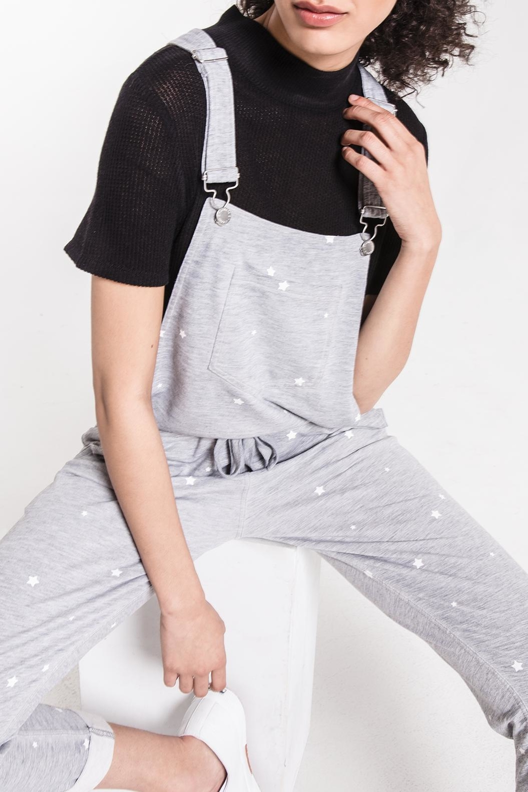 z supply Star Print Overalls - Front Full Image