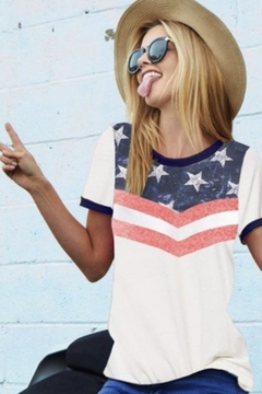 Bibi Star print ringer top - Alternate List Image