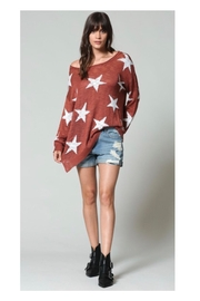 Blank Paige Star Print Sweater - Product Mini Image
