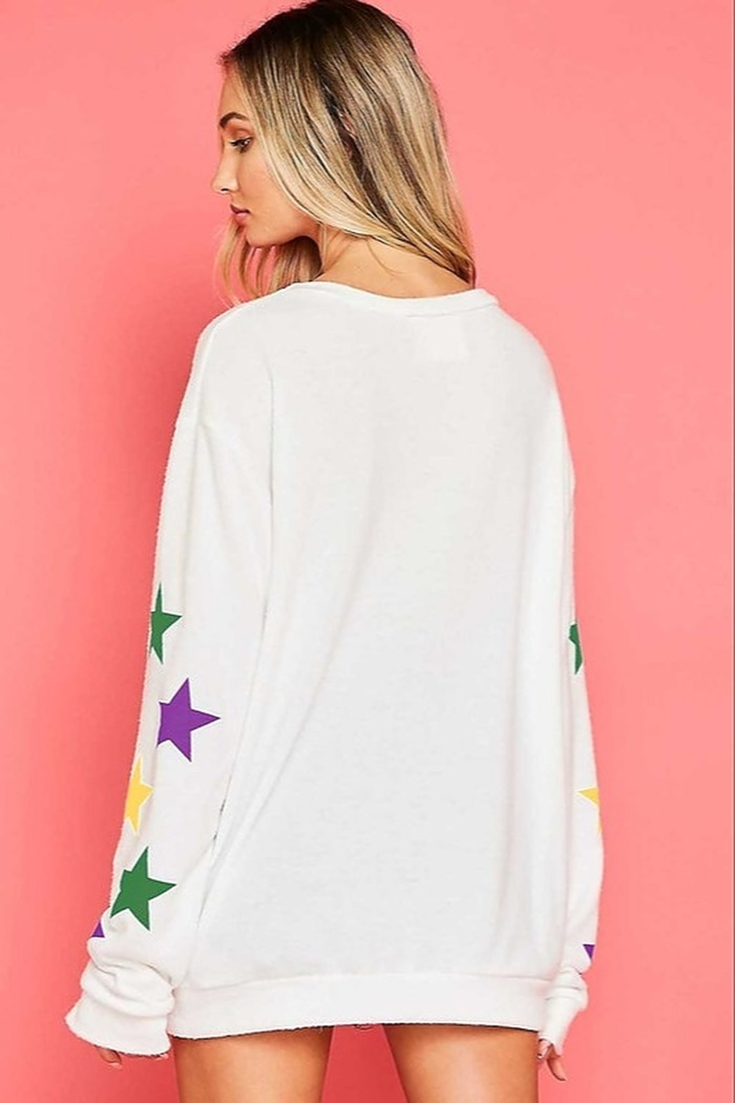 Fantastic Fawn  Star Print Sweatshirt - Side Cropped Image