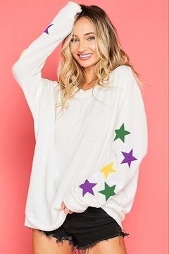 Fantastic Fawn  Star Print Sweatshirt - Product List Image