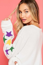 Fantastic Fawn  Star Print Sweatshirt - Front full body