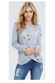 Maronie  Star Print Top - Product Mini Image