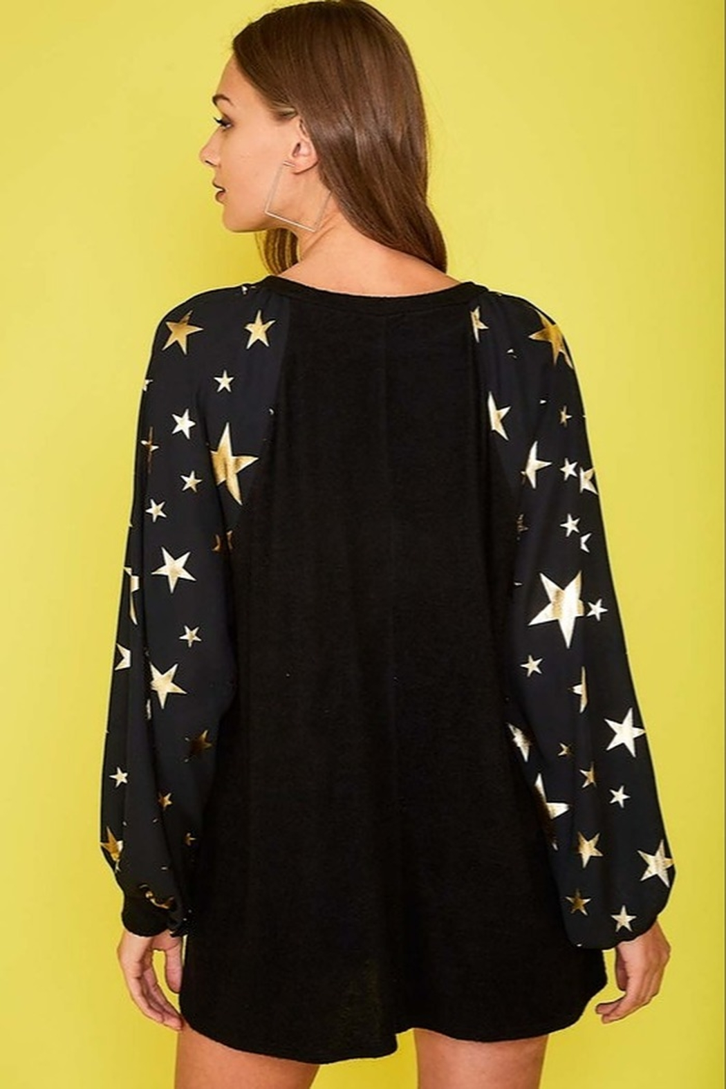 Fantastic Fawn  Star Print Top - Side Cropped Image