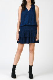 Current Air Star printed mini dress with pleated skirt - Product Mini Image