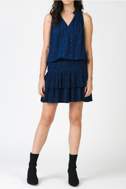 Current Air Star printed mini dress with pleated skirt - Front cropped