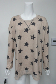 She + Sky Star Printed Top - Front cropped