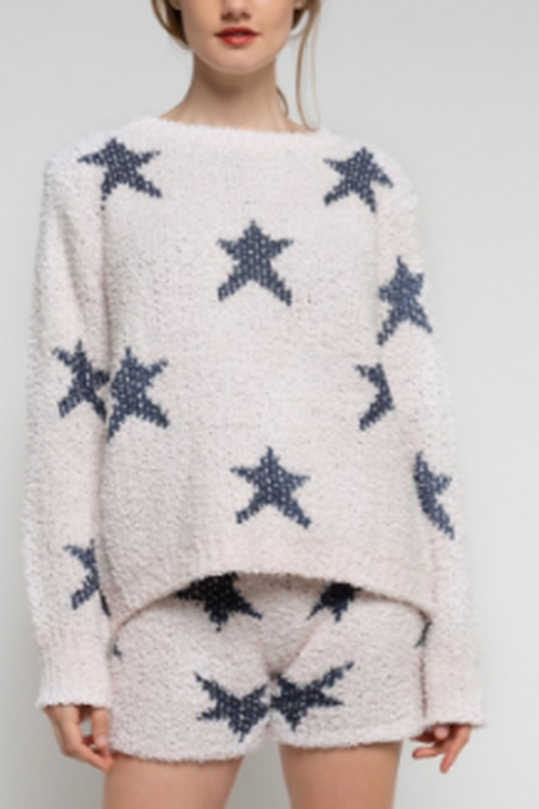 POL Star Pull Over Sweater - Side Cropped Image