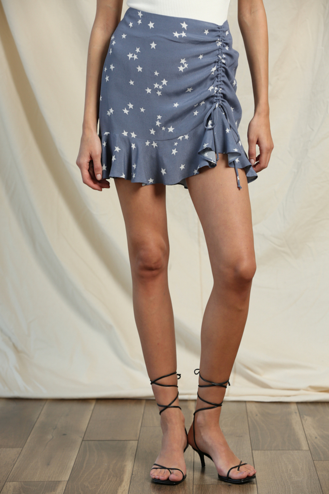 Blank Paige Star Ruffle Skirt - Front Cropped Image
