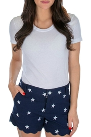 Lauren James Star Scallop Shorts - Product Mini Image