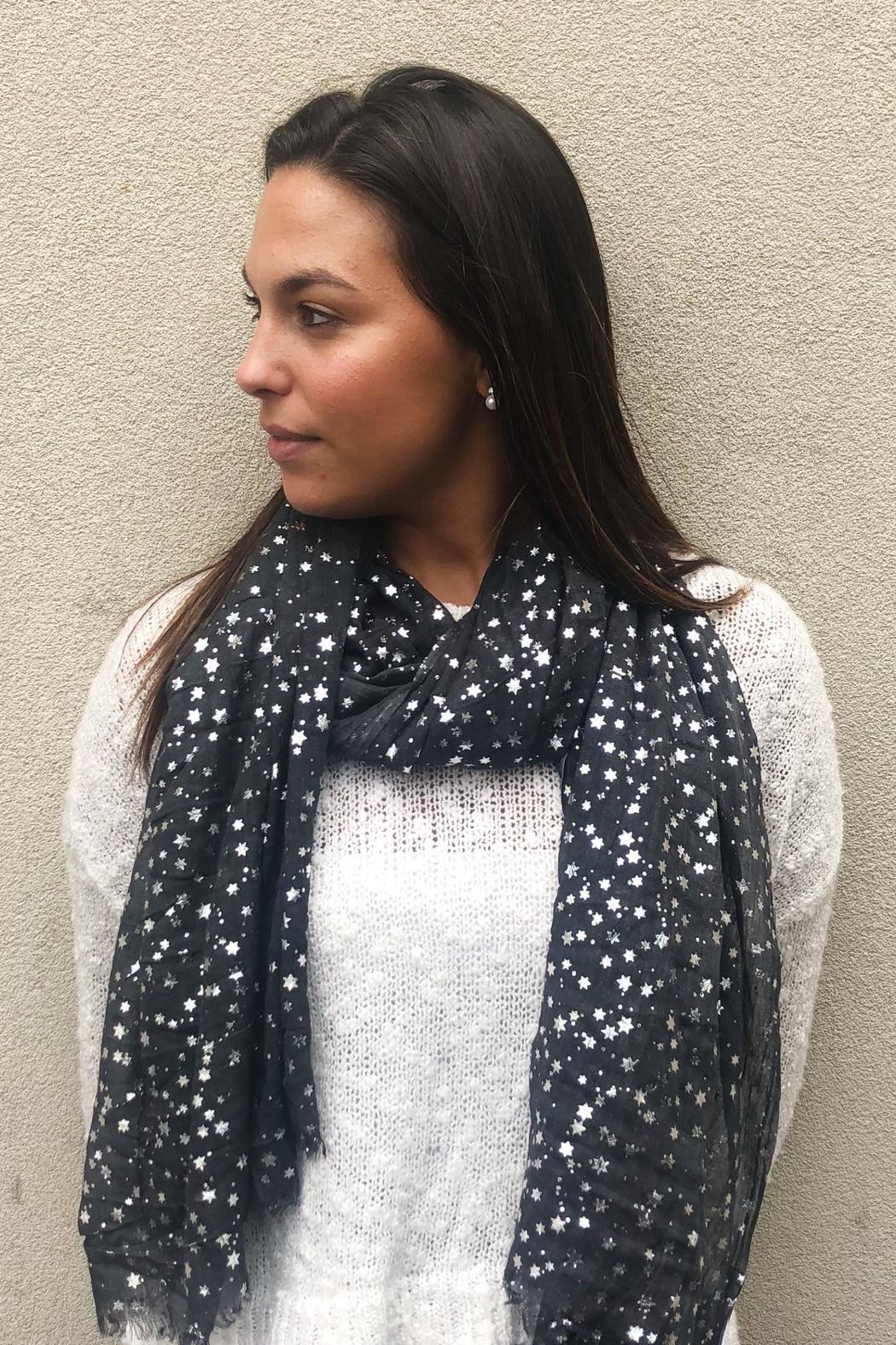 Lets Accessorize Star Scarf - Side Cropped Image