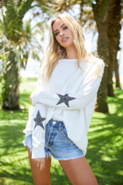Elan  Star Sleeve Sweater - Product Mini Image