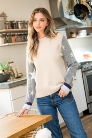 Thml Star Sleeve Sweater - Product Mini Image