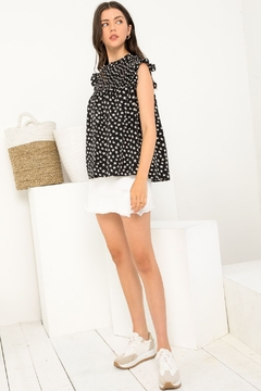 Thml Star Smocked Print Top - Product List Image