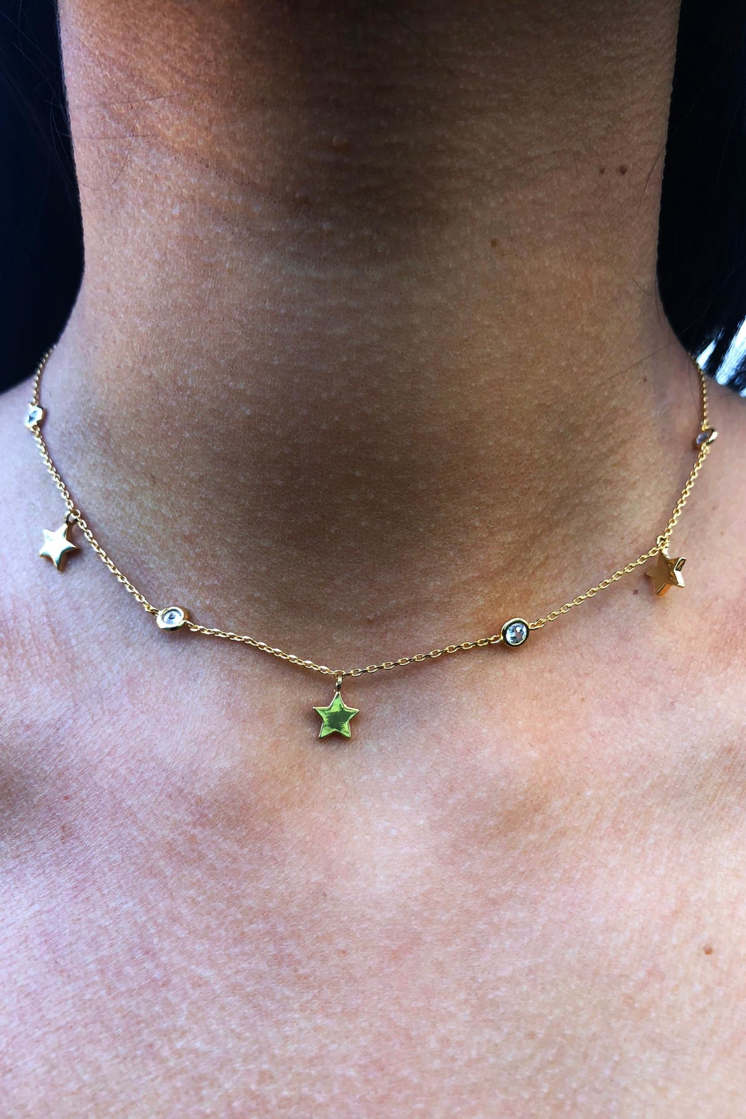 Lets Accessorize Star-Stone Choker - Front Full Image