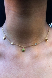 Lets Accessorize Star-Stone Choker - Front full body