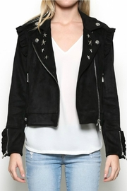 Esley Collection Star Studed Moto Jacket - Product Mini Image