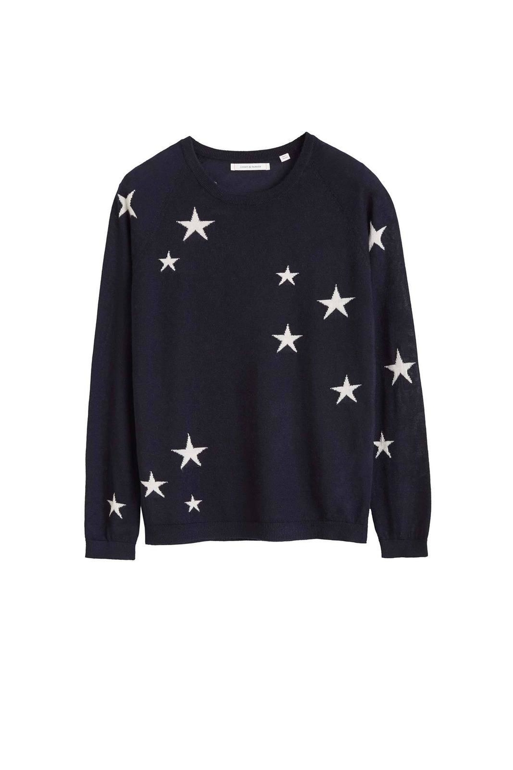 Chinti & Parker Star Sweater - Back Cropped Image