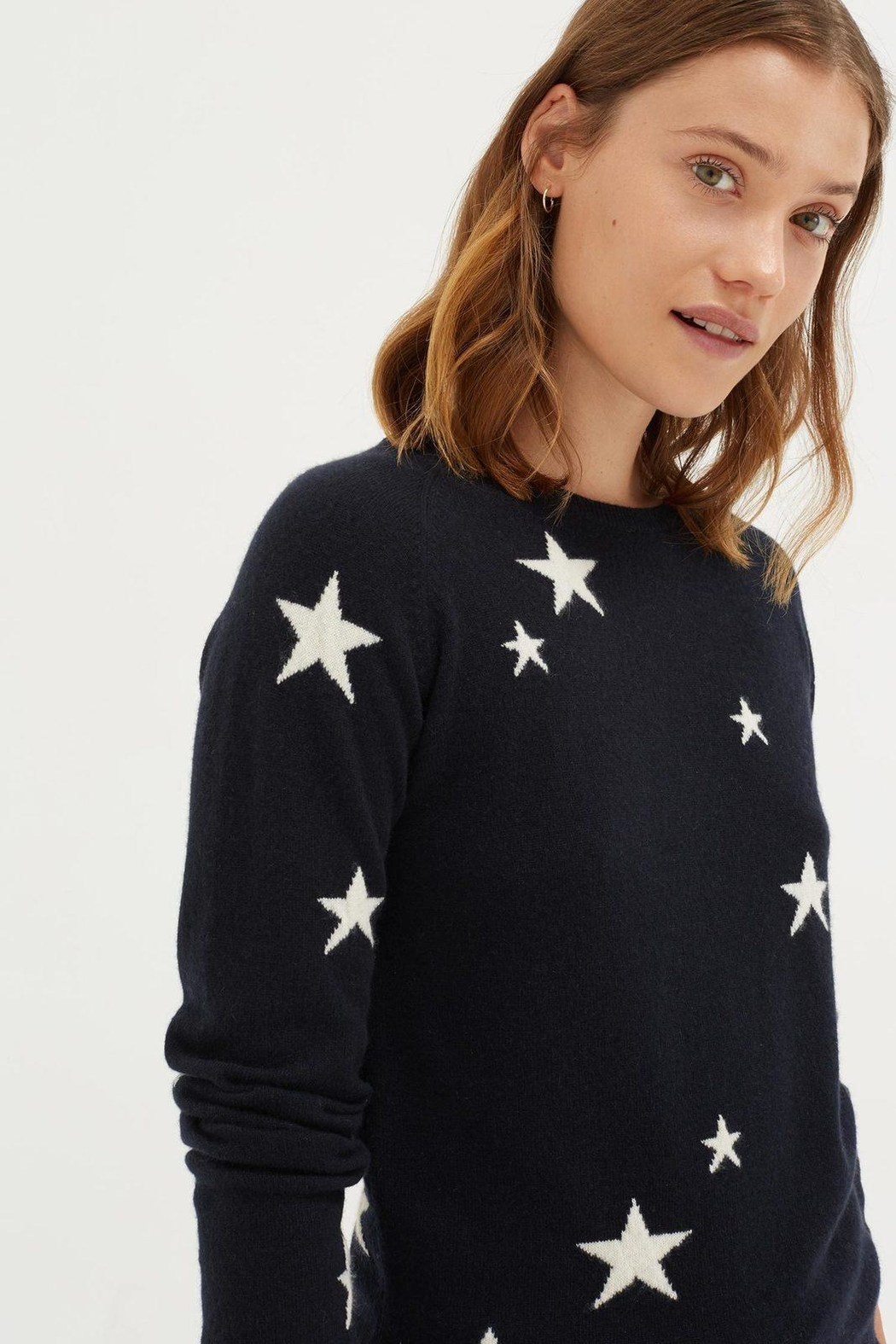 Chinti & Parker Star Sweater - Front Cropped Image