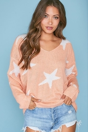 Peach Love California Star Sweater - Product Mini Image