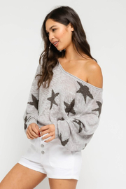 Olivaceous  Star Sweater - Front full body