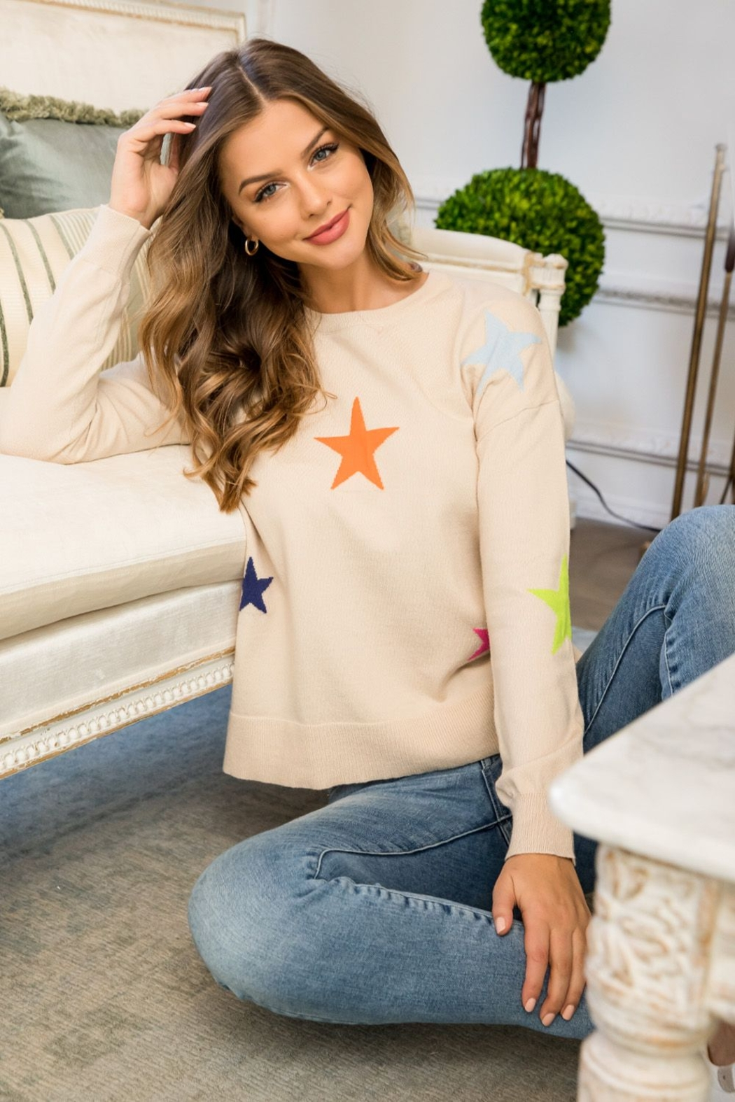 Thml Star Sweater - Front Full Image