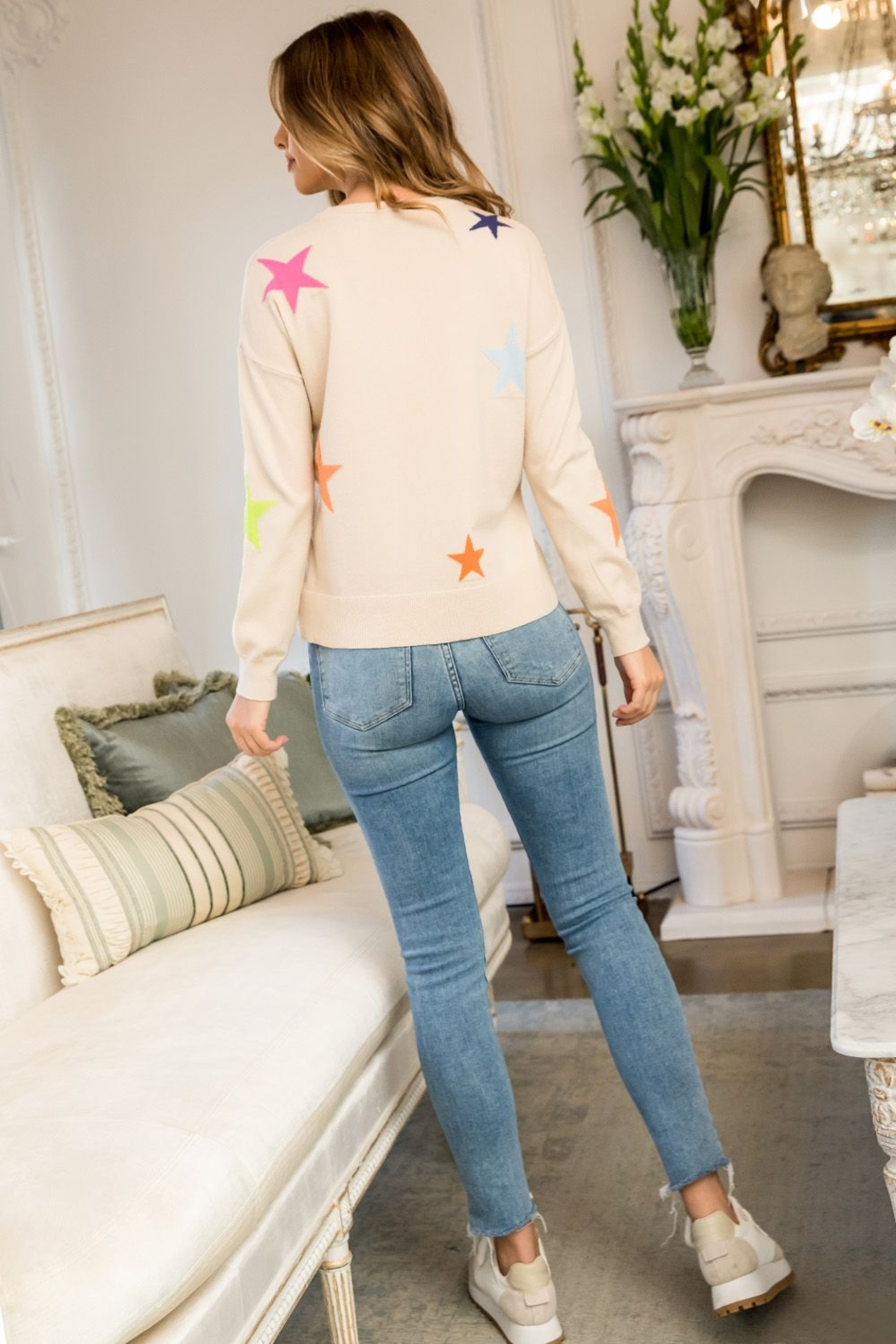 Thml Star Sweater - Back Cropped Image