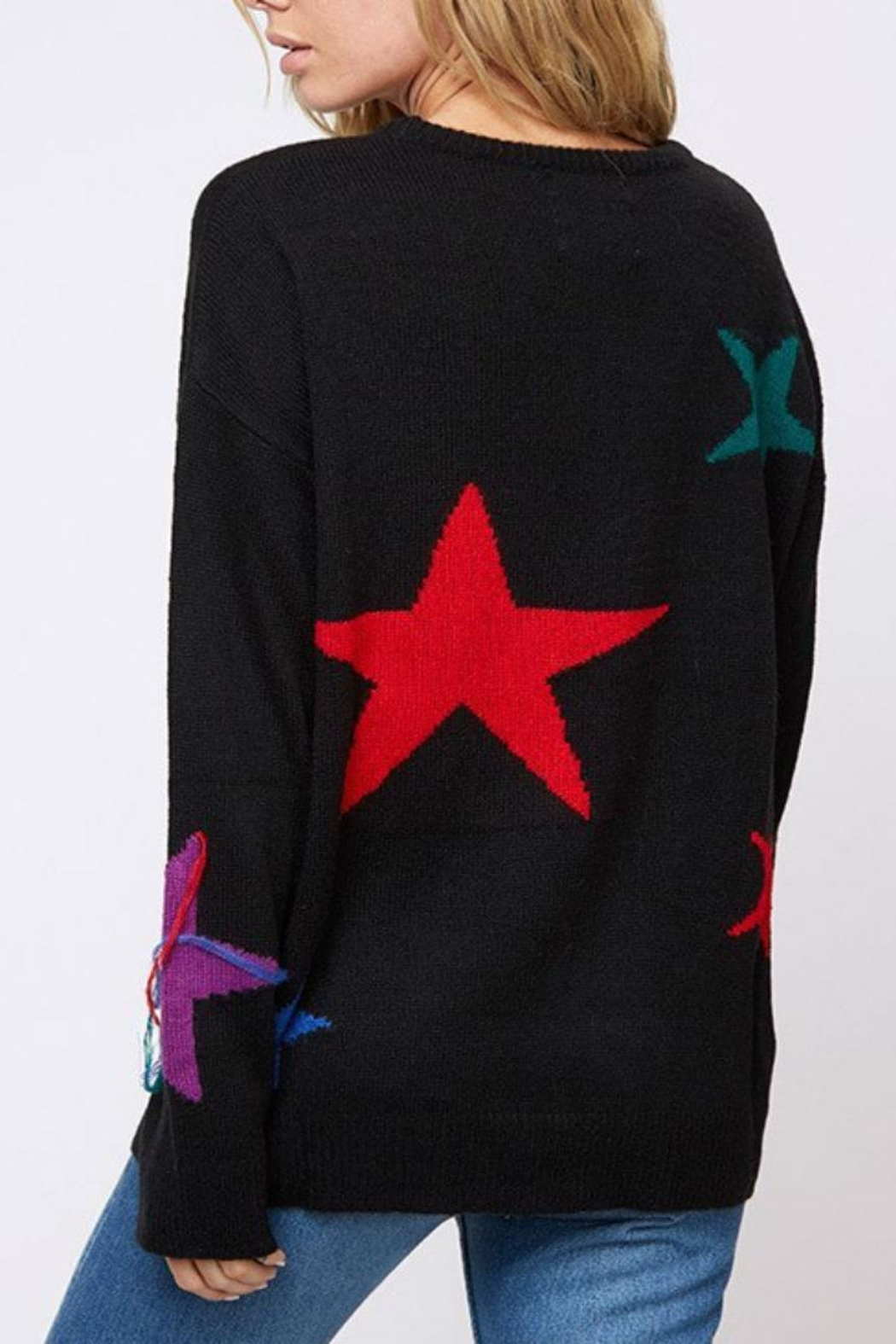 Fantastic Fawn Star Sweater - Side Cropped Image