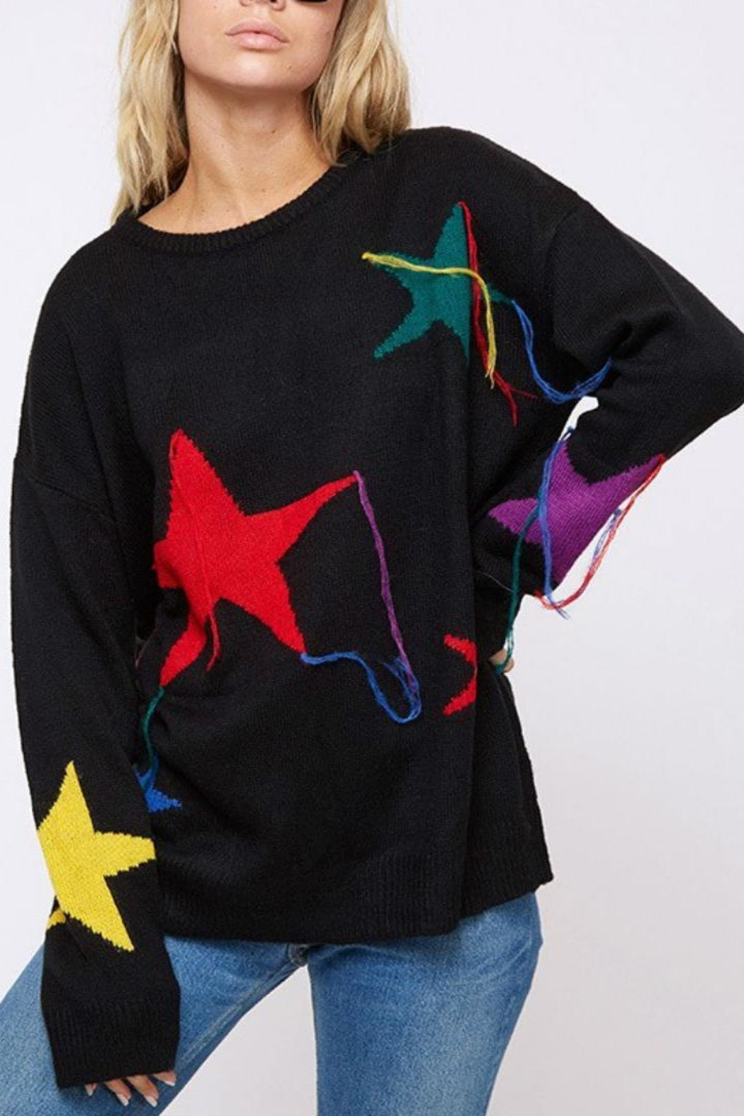 Fantastic Fawn Star Sweater - Front Full Image