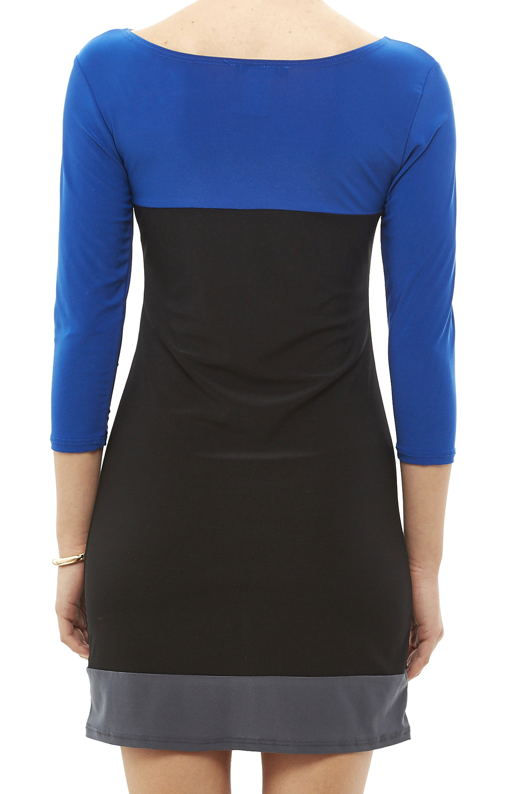 Star Vixen Color Block Tunic - Back Cropped Image