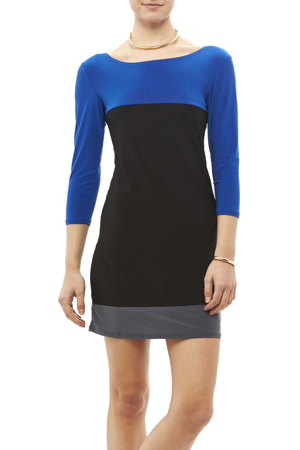 Star Vixen Color Block Tunic - Front Cropped Image