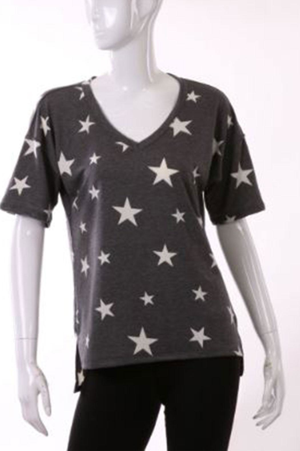 ENTI Star Vneck Top - Front Cropped Image