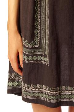 Shoptiques Product: Embroidered Faded/black Dress