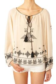 Star Mela Ivory Black Top - Product Mini Image