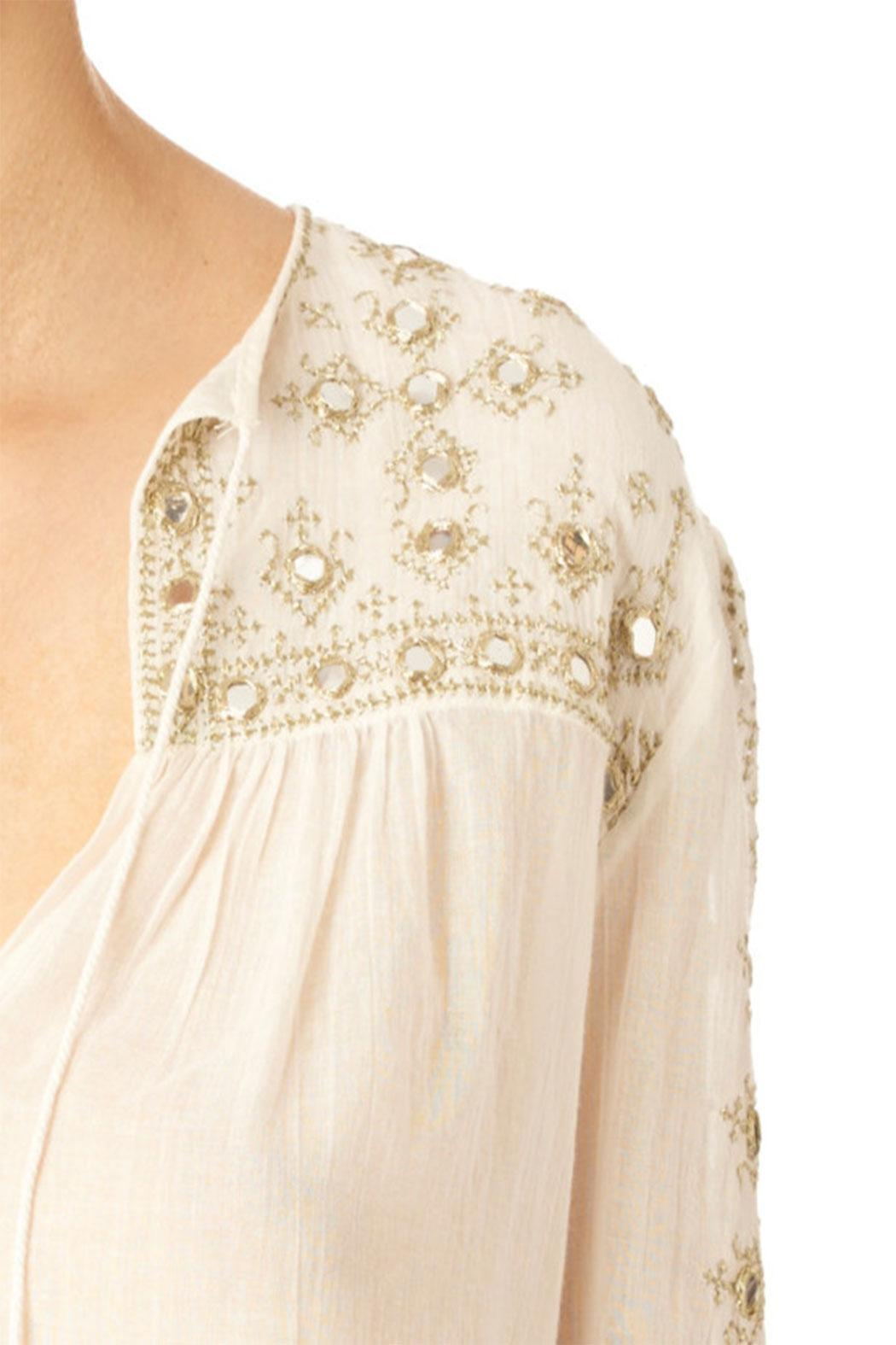 Star Mela Mirror Embroided Top - Front Full Image