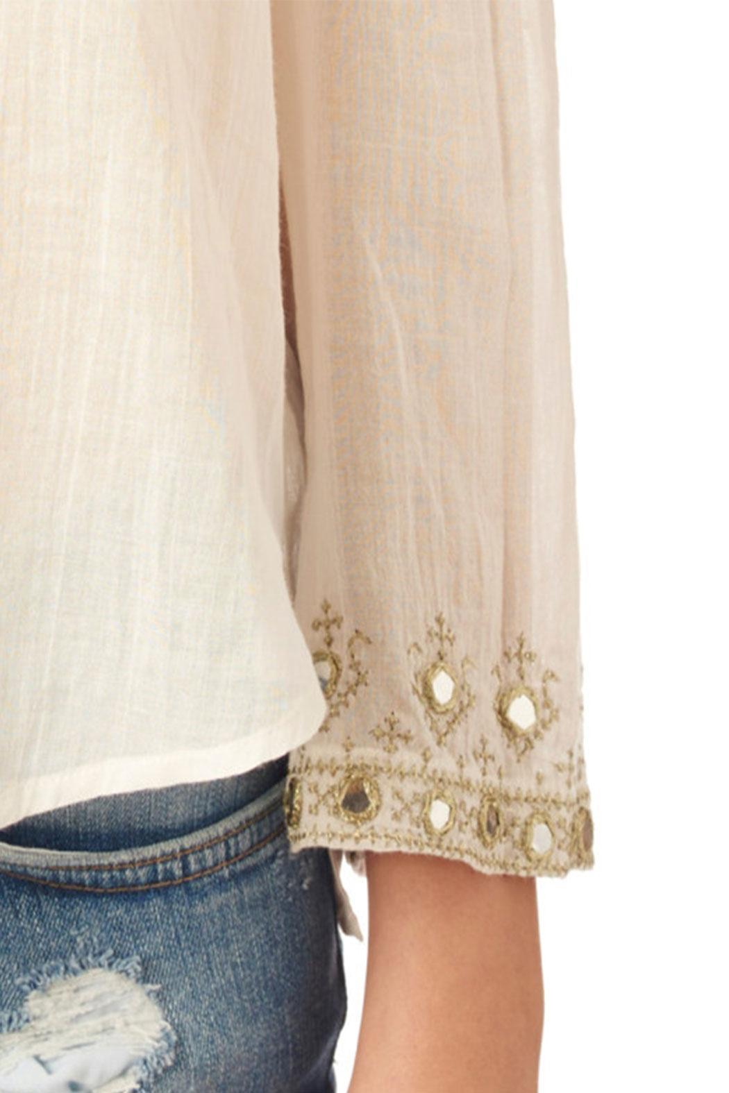 Star Mela Mirror Embroided Top - Side Cropped Image